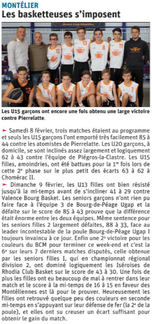 Les basketteuses s'imposent