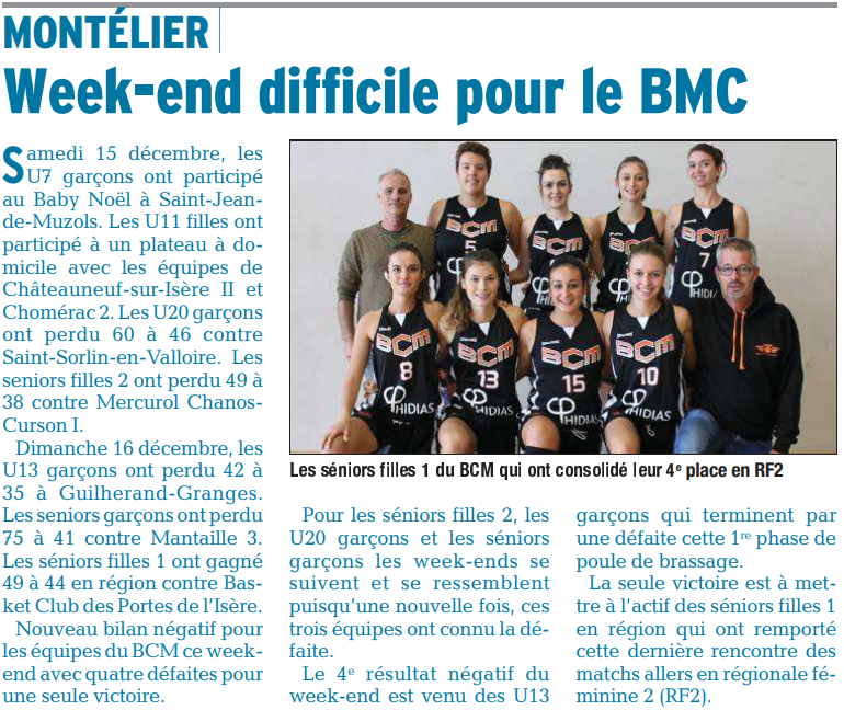 Week-end difficile pour le BCM